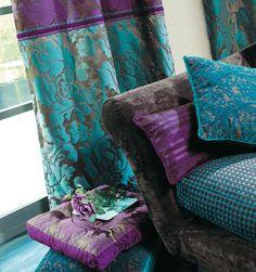 holistic home: purple-turquoise textile set
