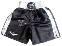 Riddick Bowe Signed Black Everlast Boxing Trunks Big Daddy JSA/SI
