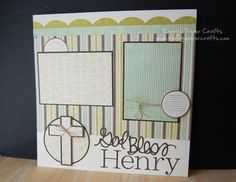 scrapbooking | Video: 12″x12″ Scrapbook Layout