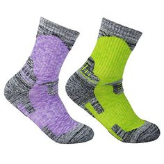 YUEDGE Women's 2 Pack Multi Performance Outdoor Sports Hiking Trekking Running Wicking Cushion Cotton Crew Socks(Assortment Purple Green). For product & price info go to:  https://all4hiking.com/products/yuedge-womens-2-pack-multi-performance-outdoor-sports-hiking-trekking-running-wicking-cushion-cotton-crew-socksassortment-purple-green/