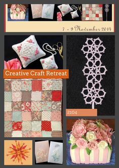 Creative Craft Retreat 2014 - South East Queensland - chance for ladies to spend a creative weekend away