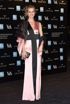 Eva Herzigova. See all the celebrities who attended the Savage Beauty: Alexander McQueen exhibit opening.