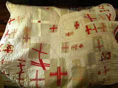 Red Cross Quilt inspired by Katie Pederson's  Quilting Modern book