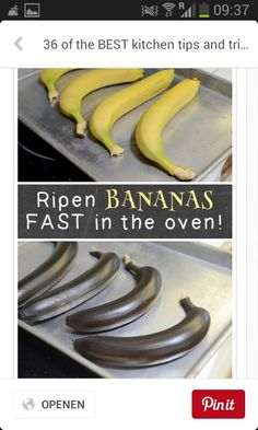 Ripen bananas FAST in the oven!