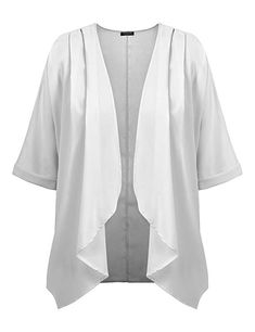 abf923770ef3 Solid color loose style bat sleeve chiffon kimono cape, Ideal cover up  blouse, sun protection gear. These beautiful cardigan, unique style, ...