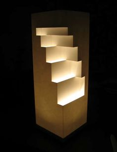 DIY Geometric Cut Paper Table Lamp: it yourself decorating ideas gifts fashion Paper Lampshade, Lampshades, Home Design, Paper Table, Paper Light, Paper Cutting, Cut Paper, Black Table Lamps, Cool Lighting