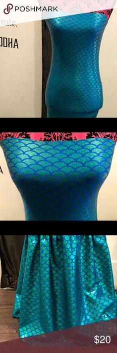 Sexy Mermaid Dress Call all sirens to the shore! Worn once, perfect condition, very flattering, Fits S/M. Dresses Strapless