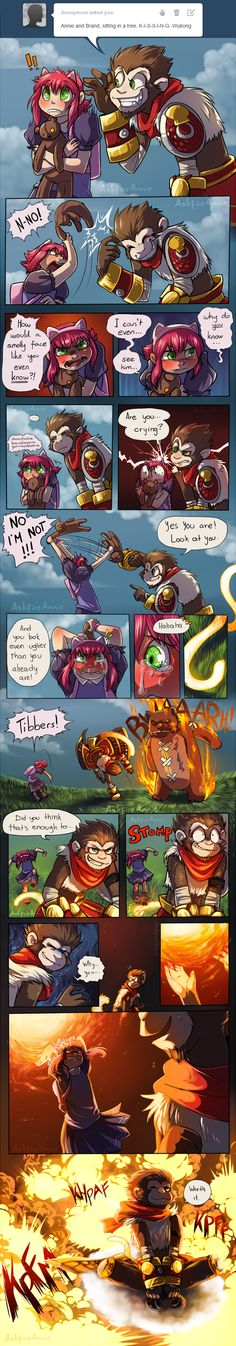 Trolling Monkey by gaby14link.deviantart.com on @deviantART - Wukong Annie Brand Tibbers