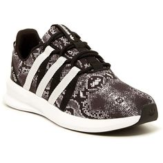 adidas SL Loop Racer Running Shoe (175 RON) ❤ liked on Polyvore featuring shoes, athletic shoes, adidas footwear, almond toe shoes, lacy shoes, lace shoes and adidas