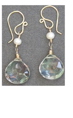 Victorian 136 Pearl with Green Amethyst by CalicoJunoJewelry, $38.00