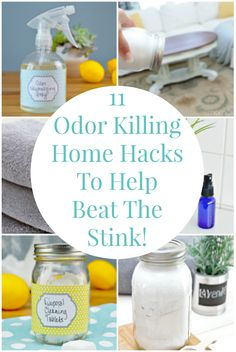 11 Odor Killing Cleaning Hacks to help beat the stink in your home! via @Mom4Real