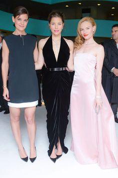 Katie Holmes, Jessica Biel, and Kate Bosworth, all in Tiffany & Co. jewels.   Biel looks amazing!!!!!!
