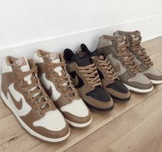 Dr Shoes, Swag Shoes, Cute Nike Shoes, Cute Sneakers, Nike Air Shoes, Hype Shoes, Me Too Shoes, Brown Sneakers, Aesthetic Shoes