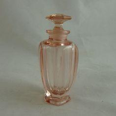 Tiffin Pink Depression Glass Perfume Bottle