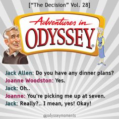 "Adventures in Odyssey quotes | ""The Decision"" | Jack Allen | Joanne Woodston Allen | Alan Young | Janet Waldo"