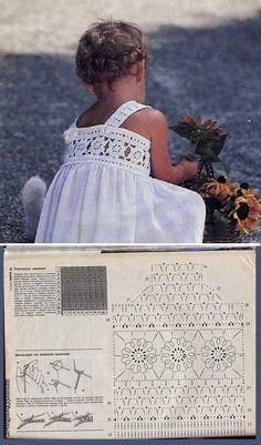 Best 12 Como hacer flor rosa Gigante con hojas a Crochet en punto tunecino tejido – Knit And Crochet İdeas Filet Crochet, Crochet Yoke, Crochet Fabric, Crochet Blouse, Crochet Stitches, Crochet Pattern, Crochet Dress Girl, Baby Girl Crochet, Crochet Baby Clothes