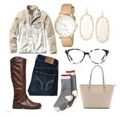 """""""Chilly days"""" by tylerrrjohnson on Polyvore featuring Patagonia, Hollister Co., Bamboo, Kendra Scott, Kate Spade and Rivet & Sway"""
