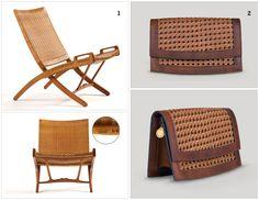 Hans Wegner: Folding Chair, 1949. Oak wood and woven cane.