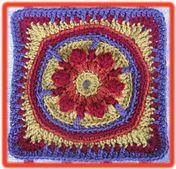 """Ravelry: Tequila Sunrise 9"""" Afghan Block pattern by Margaret MacInnis"""