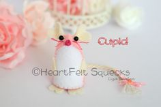 HeartFelt Squeaks - Limited Edition Valentine Collection;  Cupid  www.facebook.com/heartfelthoots