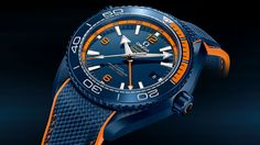 Omega Seamaster Planet Ocean Big Blue - dial detail - Perpetuelle