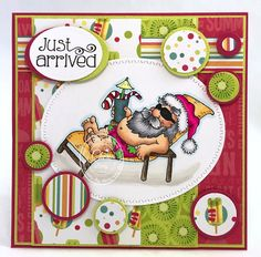 """High Hopes Rubber Stamps """"Tropical Santa"""" by CheriB Designs"""