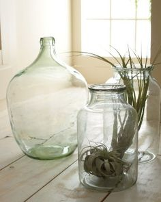 Vintage Glass Collection- perfect as vases