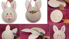 Evde Plastik Tabaktan Oyuncak Tavşan Süsü Yapımı
