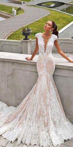 Brilliant Crystal Design Wedding Dresses ★ See more: https://weddingdressesguide.com/crystal-design-wedding-dresses/ #nails