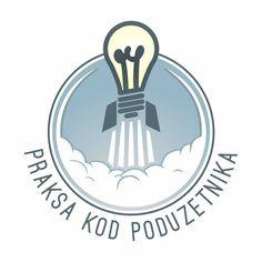 "Logo projekta ""Praksa kod poduzetnika"" http://ss-ekonomska-vu.skole.hr/projekti_ekonomske_kole_vukovar/2017_2018_ #esv #ekonomskaskolavukovar #vukovar #croatia #highschool #project #eufunds #practice #entrepeneurship #round #circle #bulb #lightbulb #rocket #takingoff #graphicdesign #graphic #design #neveronedesign #n1d"
