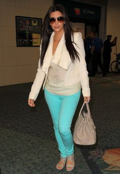 Black Orchid Mid Rise Jegging in Curacao - as seen on Kim Kardashian