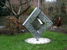 Stainless steel kinetic sculpture, moved only by the wind. Designed & fabricated by Rob Morrey Wind Sculptures, Sculpture Art, Kinetic Art, Wind Spinners, Metal Art, Garden Art, Metal Working, Steel, Deco
