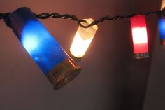 take your old gun shell and put them on some string lights... great for you back yard, did this on a Christmas Tree decorated in Hunting/Fishing themes.