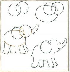 11 Best Cartoon Elephant Drawing Images In 2017 Kid Drawings