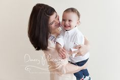 first birthday portrait, one year old photo, natural light photo studio, mom and baby pose idea © Dimery Photography 2013
