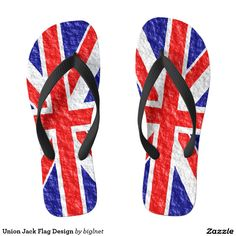 #Union #Jack #Flag Design Unisex #Flip #Flops