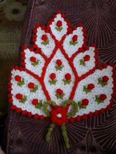 Lif modelleri Crochet Doilies, Crochet Bedspread, Crochet Stitches, Crochet Flowers, Crochet Hats, Knitting Patterns, Crochet Patterns, Floral Motif, Crochet Fashion