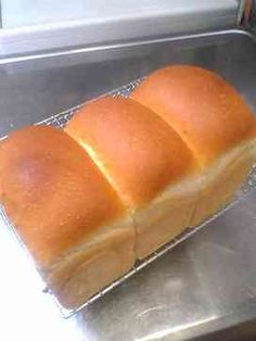Bread Toast, Bread Bun, Sweets Recipes, Bread Recipes, Cooking Recipes, Shokupan Recipe, Honey Toast, Biscuits, Cooking Bread