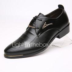 new products 75123 74e19 Hombre Zapatos formales Cuero Primavera   Otoño Negocios Oxfords Negro    Marrón 2018 - US  24.24