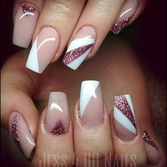 "If you're unfamiliar with nail trends and you hear the words ""coffin nails,"" what comes to mind? It's not nails with coffins drawn on them. It's long nails with a square tip, and the look has. Colorful Nail Designs, Acrylic Nail Designs, Nail Art Designs, Acrylic Nails, French Nails, Gorgeous Nails, Pretty Nails, Glitter Nails, Fun Nails"