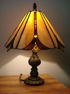 lamp in our hallway one of the first I made..