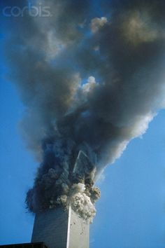 South Tower Collapsing - AAHV001010 - Rights Managed - Stock Photo - Corbis