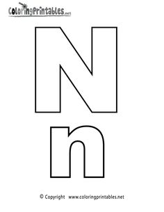 alphabet letter n coloring page a free english coloring printable