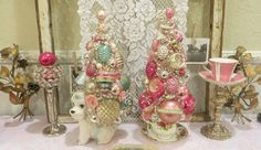 bottle brush trees christmas | Ms Bingles Vintage Christmas: Vintage Bottle Brush trees and Some ...