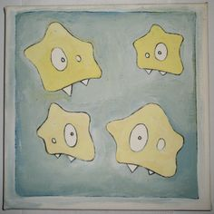 evil stars - edding markers, acryl and gesso on canvas [2005]
