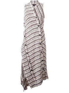 Proenza Schouler твидовое платье асимметричного кроя