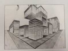Less Talk, More Art: A middle school art ed blog: 7th grade two point perspective cities