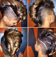 that Mohawk - Black Hair Information Community Mohawk Styles, Curly Hair Styles, Natural Hair Styles, Dope Hairstyles, Curly Mohawk Hairstyles, Relaxed Hairstyles, Hairstyles Pictures, Shaved Hairstyles, Locks