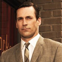 "Jon Hamm as Don Draper in Mad Men. Draper  lied, cheated on his wife, but could be seen as a ""good guy"" because for all his flaws, he did care."