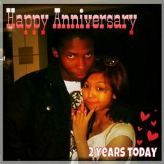 Happy 2nd Anniversary mine Munky!!! It has not been a walk in the park, but it was fun, it was crazy, and we made it. I love you very much! Thank you for everything. You & me always baby ^_^ mxwah! <3